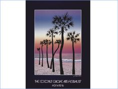 "coconut grove arts festival poster 1987 - ""Beach Palms"""