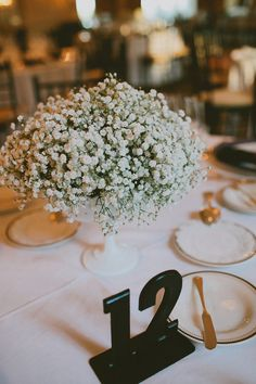 baby's breath centerpieces, photo by @Jillian Wishart http://ruffledblog.com/scottish-tartan-wedding #babysbreath #centerpieces #weddingideas
