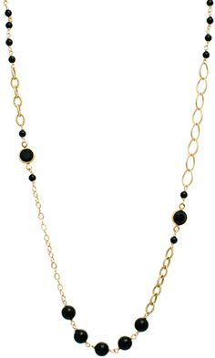 Coco Necklace in Onyx $148 #swarovski #pearls #jewelry