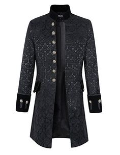 Mens Velvet Goth Steampunk Victorian Frock Coat (L, Broca... https://smile.amazon.com/dp/B01CE3ZLF4/ref=cm_sw_r_pi_dp_x_I4AzybW36K6RM