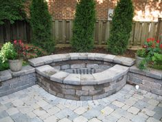 Exterior: Curved Fire Pit Bricks With Flat Fire Pit Bricks And Fire Pit Designs Using Bricks In Yard from Fire Pit Bricks from Your Lovely Warm Traditional Look