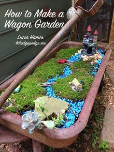 How to Make a Wagon Garden - a great activity for my kiddos this summer!