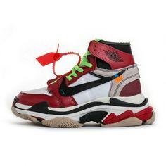 newest e4a3d 91d2e Off White x Air Jordan 1 Balenciaga Triple S Virgil Abloh Custom Popular  Sneakers, Popular