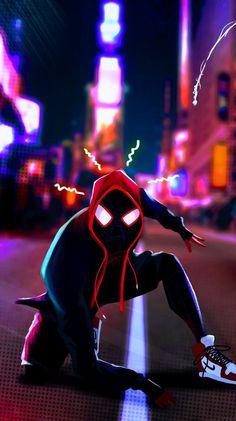 Miles Morales - Ultimate Spider-Man, Into the Spider-Verse Hero Marvel, Marvel Art, Marvel Comics, Spiderman Art, Amazing Spiderman, Spiderman Spiderman, Marvel Comic Universe, Marvel Cinematic Universe, Wallpaper Animé