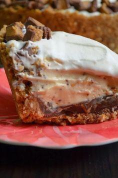 Deep Dish Peanut Butter Pie w/ a Chocolate Covered Pretzel Crust