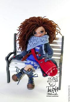 Человечки ручной работы. Кукла Кира. Tory Yarovikova... sToryToys. Ярмарка Мастеров. 14 февраля, кукла в подарок, в парке