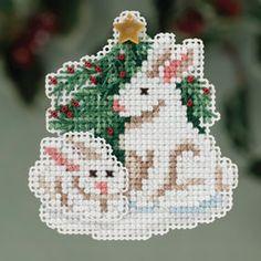 Mill Hill Winter Bunnies Christmas Ornament Cross Stitch Kit