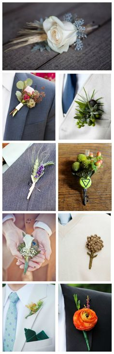 Amazing Boutonnieres for a southern wedding. #groom #weddingflowers #ceremony