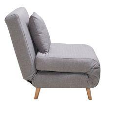 """Πολυθρόνες - κρεβάτια : Πολυθρόνα - κρεβάτι """"Rosebelle"""" ανοιγόμενη, χρ. γκρι, 79x70x40   Homez.gr"""