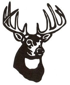 23+ Deer head clipart black and white information