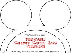 Mickey Mouse Printable Template New Free Mickey Mouse Ears Template Mickey Mouse Birthday Invitations, Mickey Mouse Clubhouse Birthday Party, Mickey Mouse Parties, Disney Clubhouse, 2nd Birthday, Minnie Mouse Template, Minnie Mouse Pumpkin, Mickey Mouse Silhouette, Diy Disney Ears