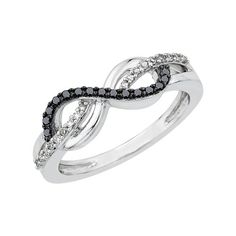 Infinity Black and White Diamond Ring in Sterling Silver (1/5 cttw) Katarina http://www.amazon.com/dp/B00B5CM5SC/ref=cm_sw_r_pi_dp_Ss.Bub1R0KSGH