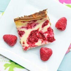 Low Carb & Gluten Free Raspberry Cheesecake Bars