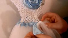 How to Wrap Ribbon On a Tutu Dress (Crochet Top) - YouTube