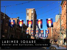 Larimer Square, Denver, Colorado - nestled in the historical heart of downtown Denver, this awesome area of the city offers a thriving shopping and entertainment district, flowing with activity.