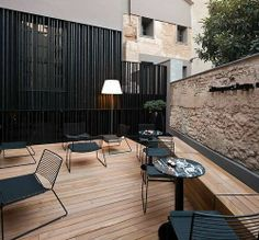 outdoor space natural material texture
