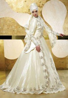 Turkish Wedding Gown Beautiful And Elegant Style Perfect Muslim Wedding Wedding Abaya, Muslim Wedding Gown, Kebaya Wedding, Hijab Wedding Dresses, Wedding Bride, Wedding Gowns, Turkish Wedding Dress, Wedding Dress With Veil, Bridal Hijab