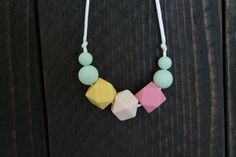 $10 Silicone Teething Necklace/ Silicone Nursing Necklace by LittleJammers