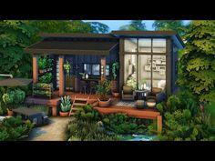 Sims 4 Modern House, Sims 4 House Design, Modern Tiny House, Sims 4 House Plans, Sims 4 House Building, The Sims 4 Lots, Casas The Sims 4, Sims Ideas, Sims 4 Build