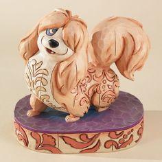 Jim Shore Disney Traditions Lady and the Tramp Flirtatious Peg Figurine Enesco.