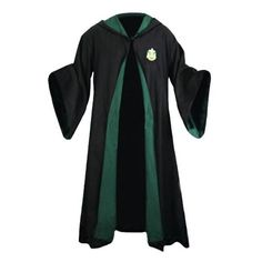 Slytherin School Robe ($101) ❤ liked on Polyvore featuring intimates, robes, harry potter, hogwarts, slytherin, tops, coats, dressing gown and bath robes