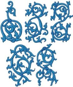 gothic style embroidery design
