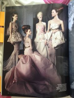 Giambattista Valli haute couture evening dresses. Styled by Jacob K. Photographed by Paolo Roversi. Vogue Australia Dec 2013