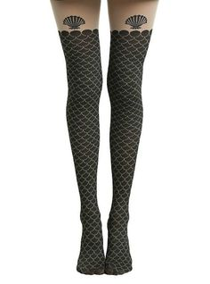 """How cute are these """"The Little Mermaid"""" thigh high tights?"""