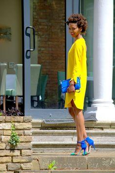 Sunny yellow & cobalt blue.