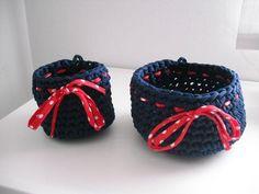 cestas de trapillo decoradas - Buscar con Google