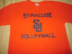TEAM ISSUE Syracuse Orange Volleyball  NCAA T  Shirt  - M Medium #Gildan #SyracuseOrange