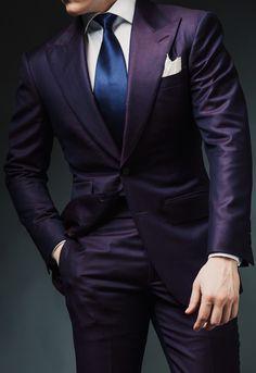 men's fashion in 2019 mens fashion, men Modern Gentleman, Gentleman Style, Dress Suits, Men Dress, Mens Tailored Suits, Purple Suits, Mens Fashion Suits, Men's Fashion, Gq Style