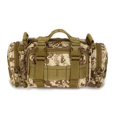 Outdoor sports Multifunction Messenger bag Tactical Nylon Camo Waist packs MOLLE Climbing Travel Camping Hunting Cycling