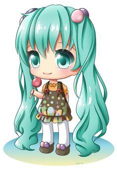 Chibi Miku by Cupkik on deviantART    :)