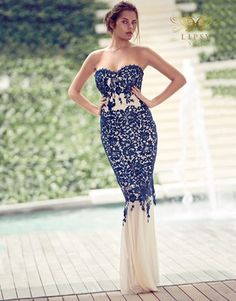 Lipsy Vip Lace Bandeau Maxi Dress