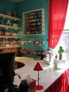 Amazing craft space/office.