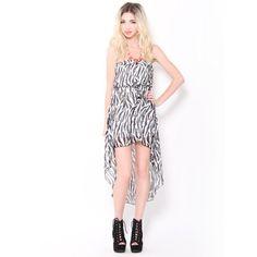 #Zebra Print High Low #Dress