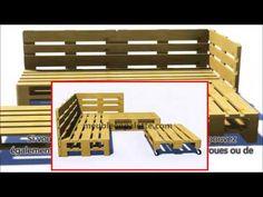 How to build a can - Wood Decora la Maison Palette Garden Furniture, Hall Furniture, Outdoor Furniture, Patio Chairs, Outdoor Chairs, Outdoor Decor, Outdoor Pallet, Banquette Palette, Pallet Lounge