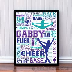 cheer quotes Custom competitive cheer poster for any age cheerleader. Great for the end-of-the season, senior gifts or a gift for the coach. Bulk discounts given. Cheerleading Gifts, Cheer Stunts, Cheer Gifts, Cheer Dance, Cheer Mom, Team Gifts, Cheerleading Bedroom, Cheer Locker Decorations, Gymnastics Room