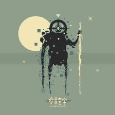 """Spatium the space #titan"" for the new space DLC #pixel_dailies #pixelart @Pixel_Dailies"