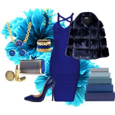 """""""True Blue"""" by poshgirlus on Polyvore"""
