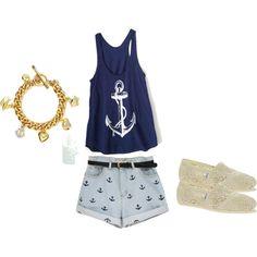 Sailor, Sailor polyvore outfit