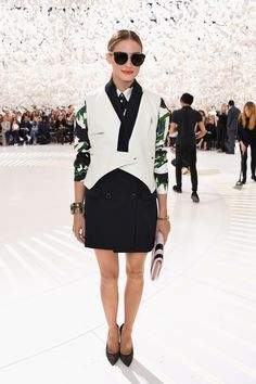 Check out the front row at Couture Fashion Week #OliviaPalermo