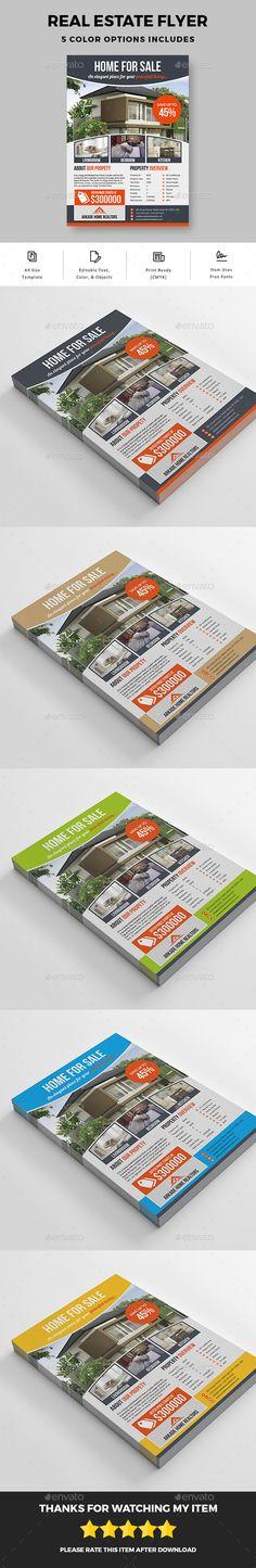 #Real Estate Flyer - Commerce #Flyers Download here:  https://graphicriver.net/item/real-estate-flyer/19888598?ref=suz_562geid