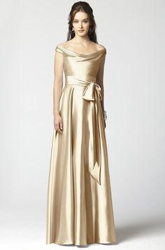 White and Gold Wedding. Bridesmaid Dress. Dessy 2864 Bridesmaid Dress | Weddington Way