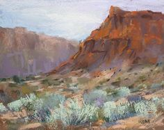ORIGINAL PASTEL PAINTING by Karen Margulis psa    Title: Red Rocks Rediscovered   Size: 8x10 inches  Media: Pastel on archival pastel paper