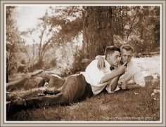 Vintage Photo Memories - Men Twogether