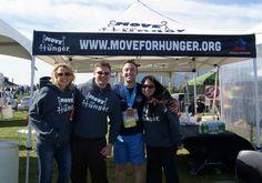 Pop Up Tent for Move For Hunger. PromotionalDesignGroup.com