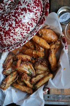 Peach Chipotle Chicken Wings - Super sticky and amazing chicken wings made in the oven! These will be a hit at your next get together! www.countrycleaver.com