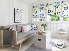 Kesäniitty Fabric   Pentik Summer 2018   Designed by Lasse Kovanen, Kesäniitty (Summer Meadow) pattern charms with wild meadow flowers and butterflies. Its fresh colours and light watercolour-like look bring plenty of beauty to your summer home.